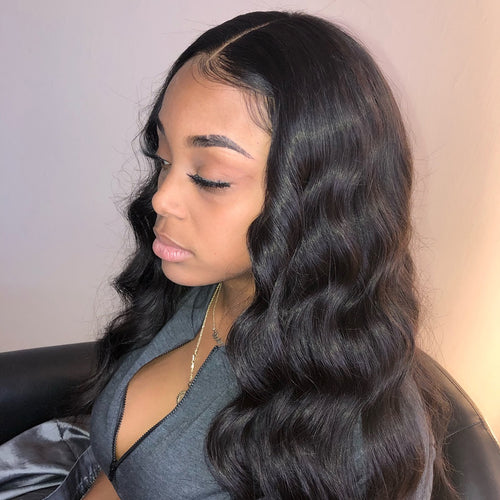 Undetectable transparent lace best virgin hair full lace wig loosw wave