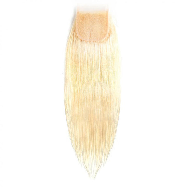 #613 Blonde 4x4 Lace Closure Natural Straight