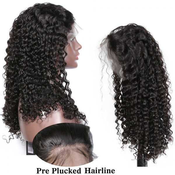 180% Density Breathable 360 Lace Wig Pre Plucked Deep Curly