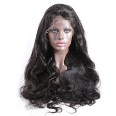 250% density breathable 360 lace wig pre plucked body wave
