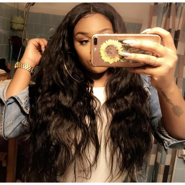 7A 4 Bundles Hair Weave Brazilian Hair With Lace Closure Body Wave