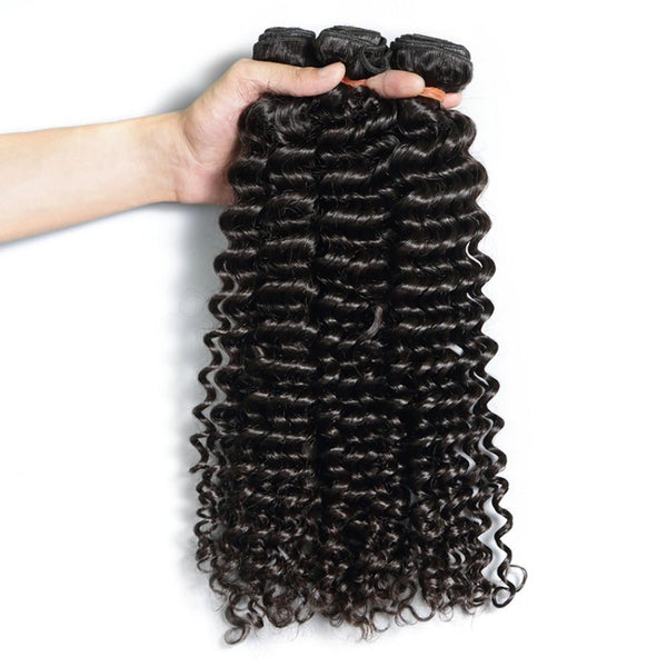 8A Hair Weave Indian Virgin Hair Deep Wave