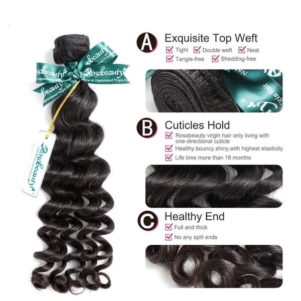 8A Hair Weave Brazilian Hair Loose Curly