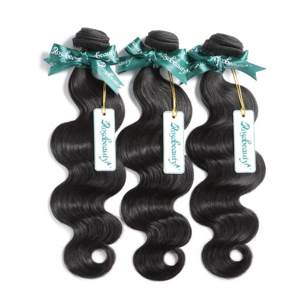 7A 3 Bundles Brazilian Hair With 360 Frontal Body Wave