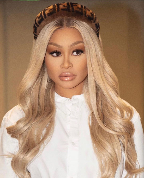 13x4 #613 Body Wave Blonde Hair Virgin Human Hair Lace Front Wig