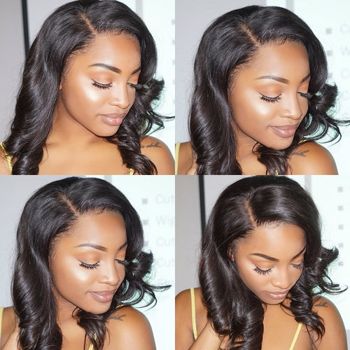 Bob wig human hair lace wig water wave