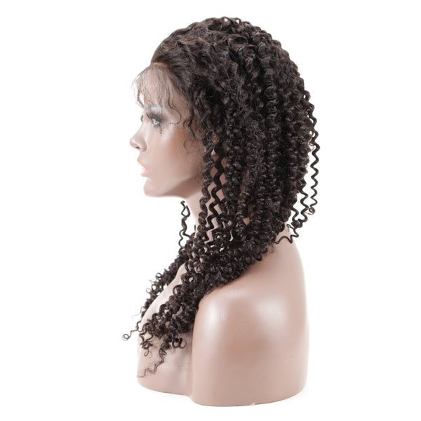 150% Human Hair Kinky Curly Front Lace Wig  with Baby Hair