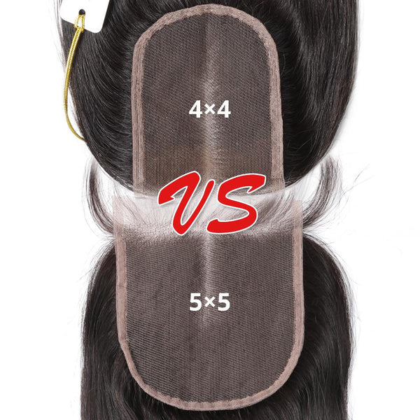 5x5 Lace Closure Brazilian Virgin Hair Body Wave