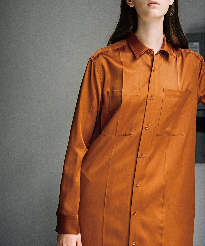Rayon / Cotton Satin Long Shirts