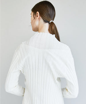 Cotton Sheer Rib Knit Top