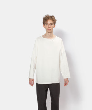 Plating cotton boat neck tee