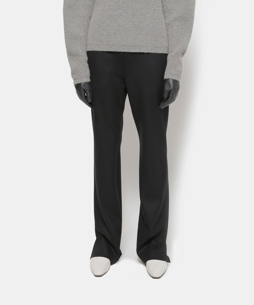 Super140 Wool Knit Melton Pants