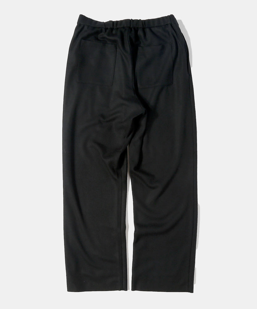 Super140 Wool Knit Melton Wide Pants