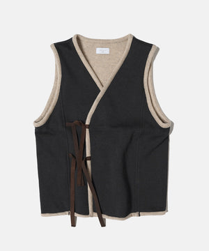 Load image into Gallery viewer, Brown Cotton Fleece Vest