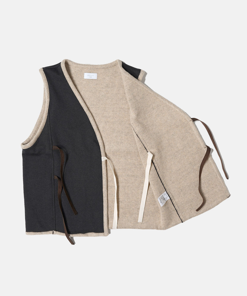 Brown Cotton Fleece Vest
