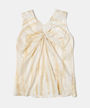 Organic cotton big waffle sleeveless tee[Womens]