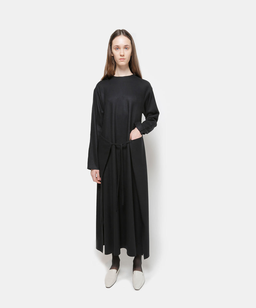 Super140 Wool Knit Melton Dress