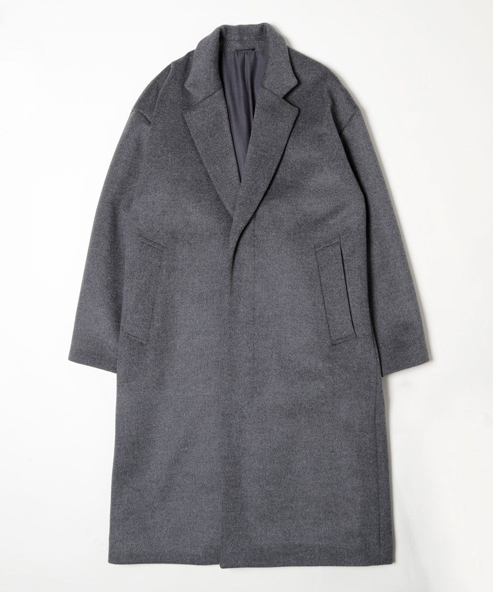 Tasmania wool melton chester coat[Unisex]