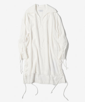 Tropical washedout pull over shrits