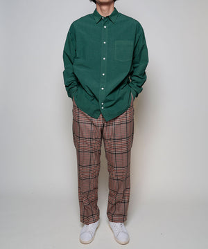 Gun-club check wide pants[Unisex]