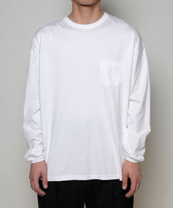Suvin cotton l/s over-sized tee[Mens]