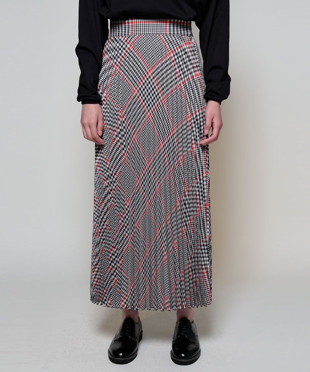 Gun-club check pleated skirt[Womens]