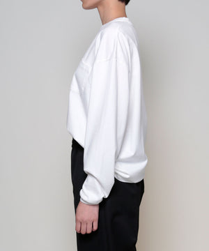 Suvin cotton l/s over-sized tee[Womens]
