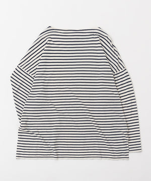 SAIL BORDER BOAT NECK TEE