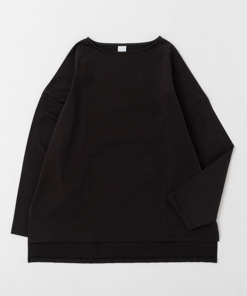 HIGH GAUGE COTTON OVERSIZED BOAT NECK TEE