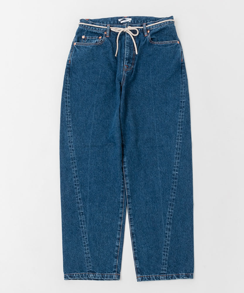 "DENIM JEANS""WIDE STRAIGHT"" *HARD WASHED"