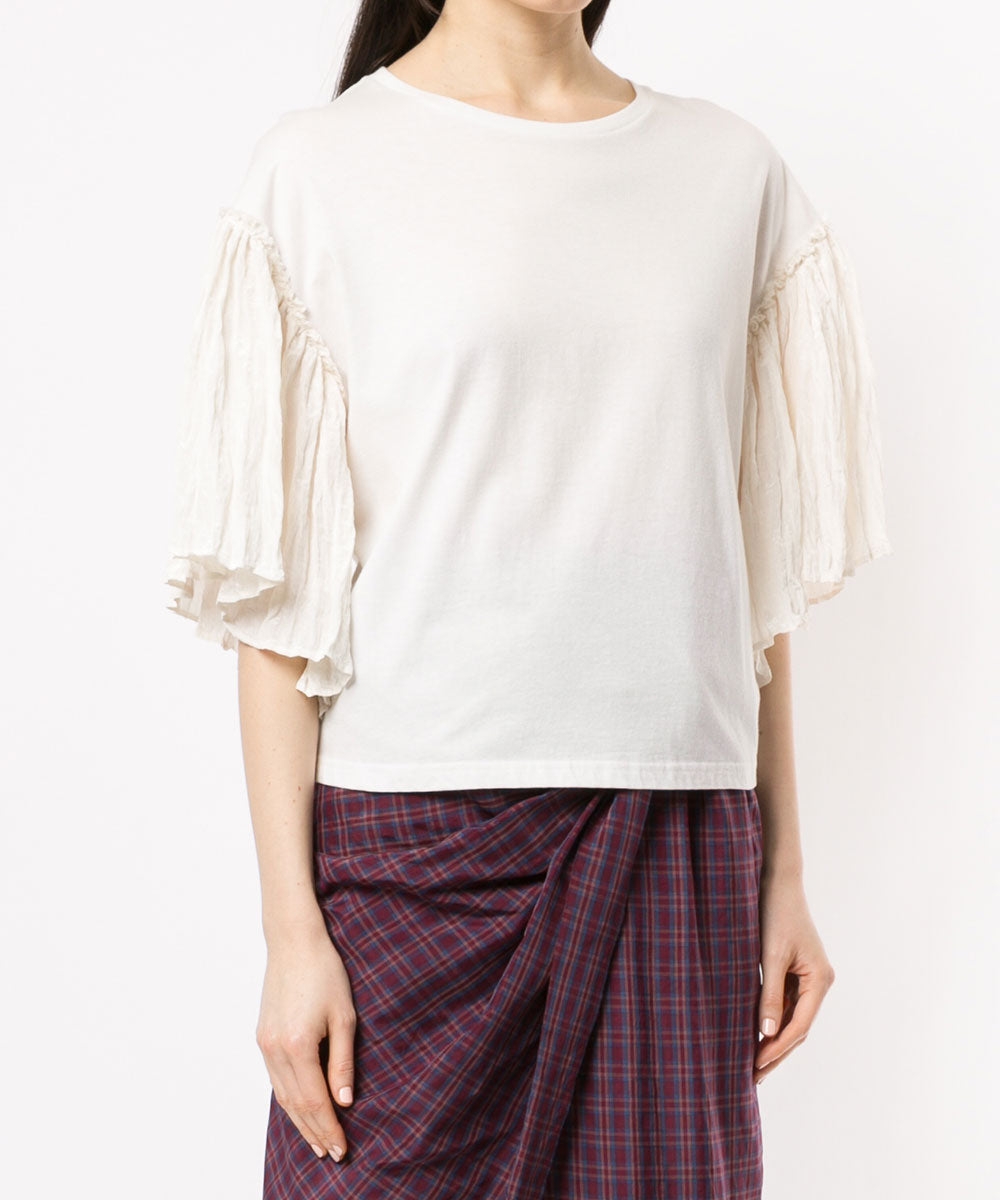 Pleats sleeve t-shirts