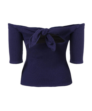 Sahara rib ribbon top
