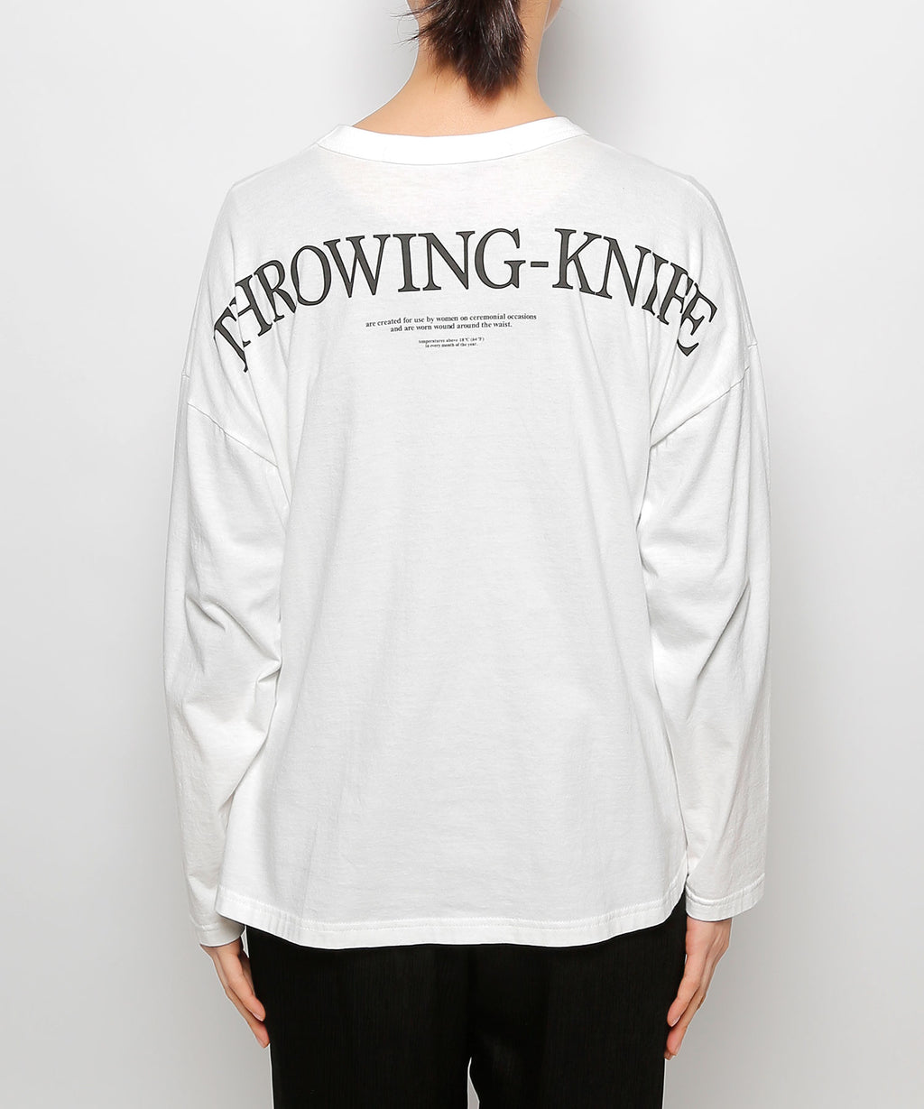 """THROWING-KNIFE""long sleeve t-shirts"