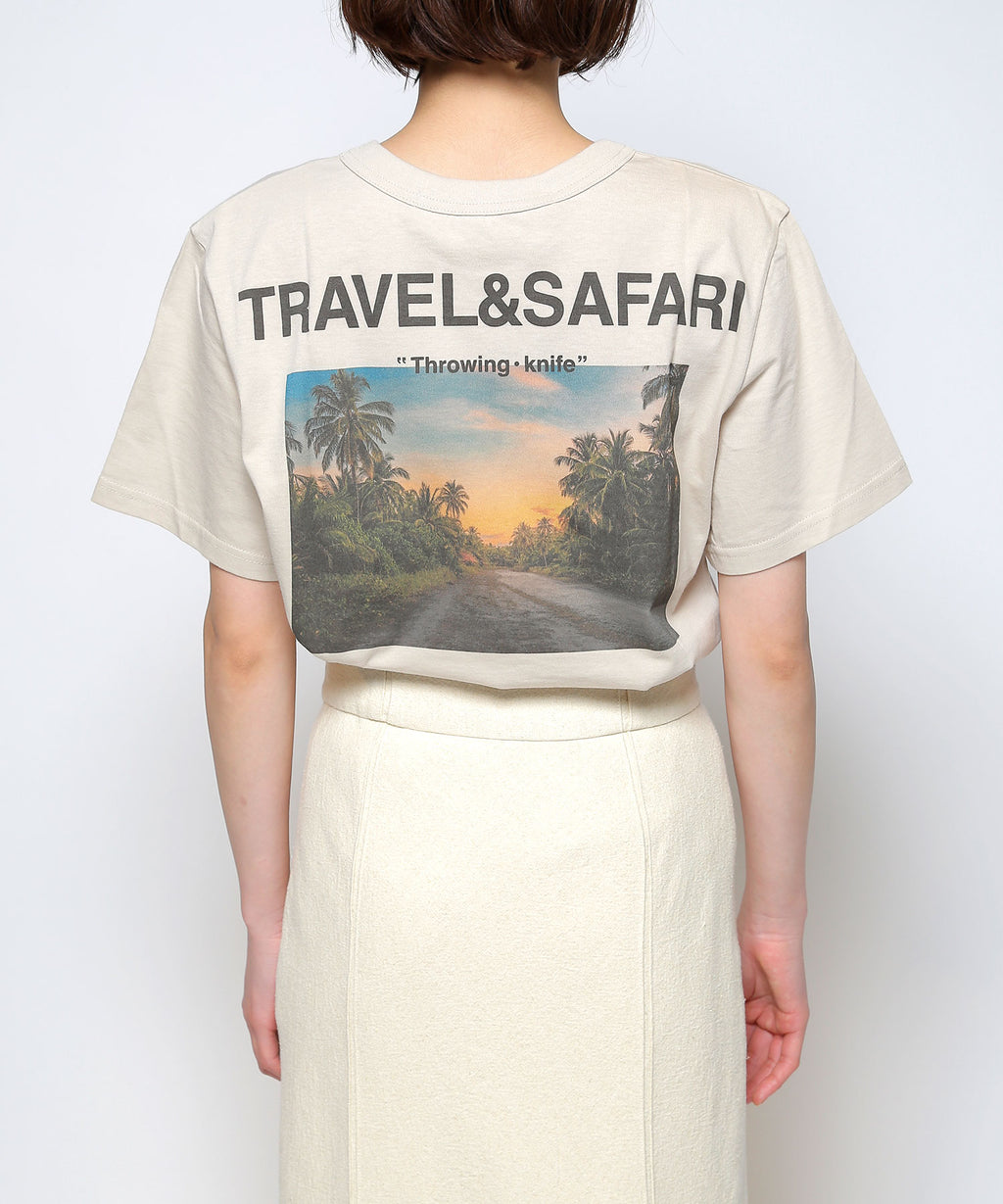 """TRAVEL&SAFARI""half sleeve t-shirts"