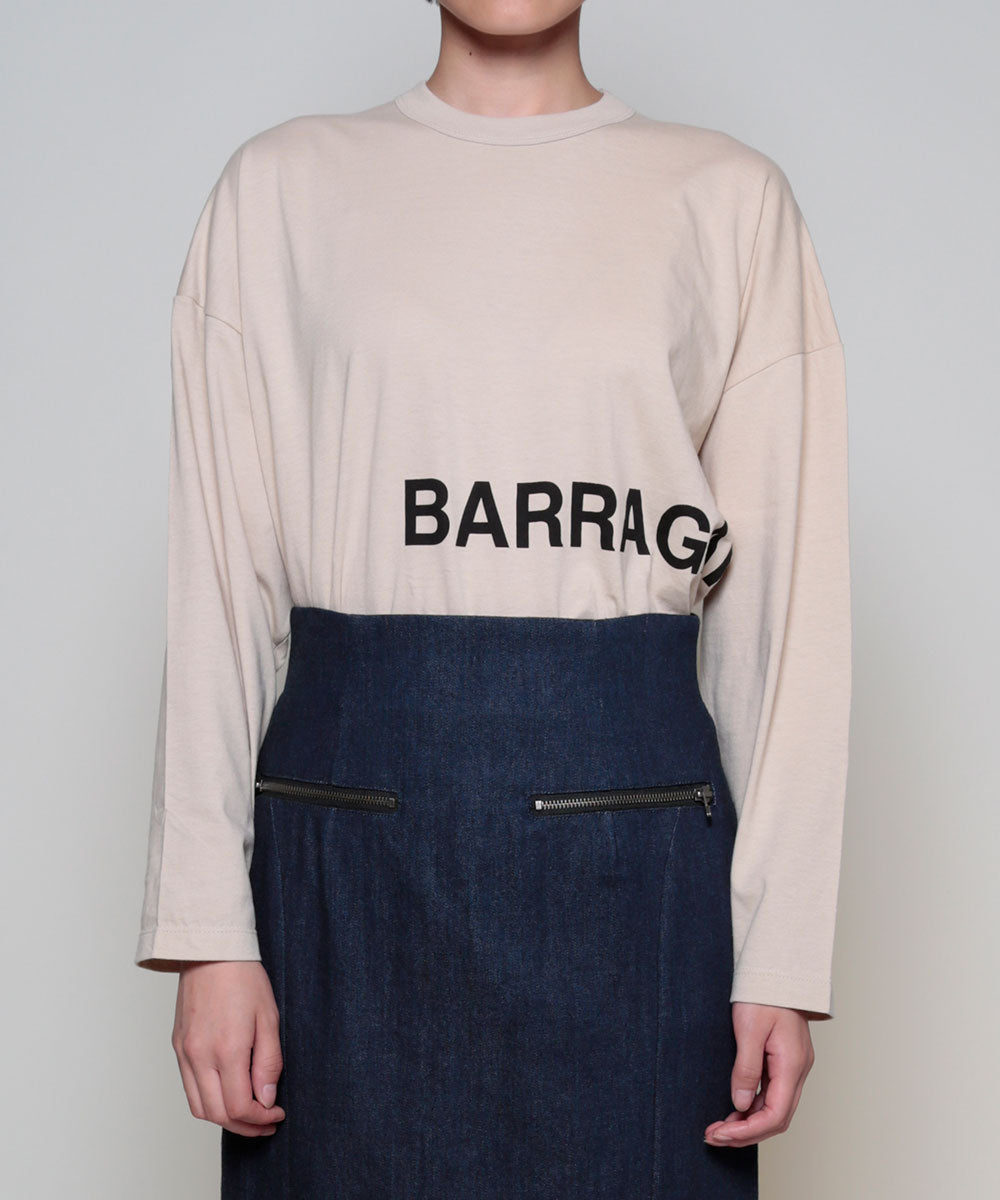 """BARRAGAN""  logo  T<long sleeve>"