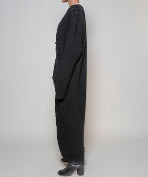 Boa  cable long cardigan