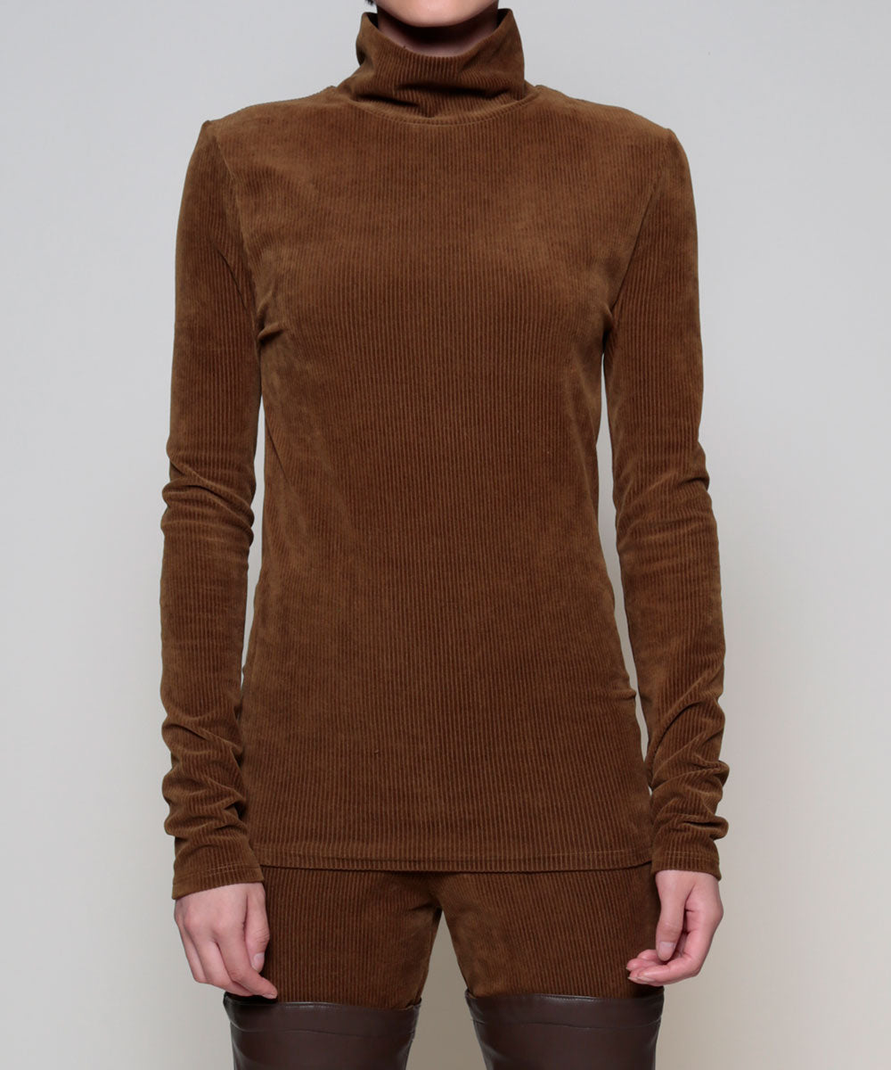 """ Corduroy turtle neck"""