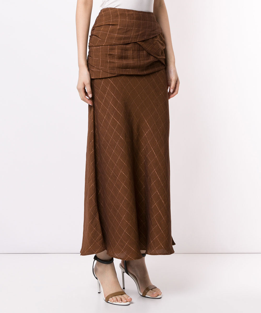 Lattice long skirt