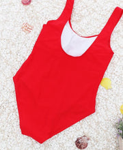 Swimsuit With Letter Print