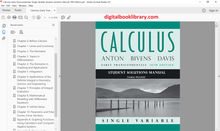 Calculus: Early Transcendentals Single Variable: Student Solutions Manual 10th Edition - PDF Version
