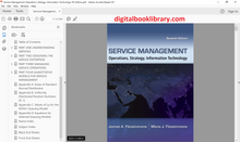 Service Management: Operations, Strategy, Information Technology 7th Edition - PDF Version