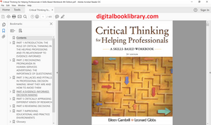Critical Thinking for Helping Professionals: A Skills-Based Workbook 4th Edition - PDF Version