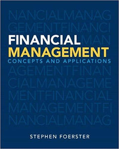 Financial Management: Concepts and Applications 1st Edition - PDF Version