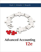 Advanced Accounting 12th Edition by Hoyle - PDF Version
