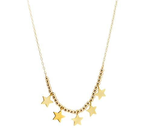 short multi star necklace