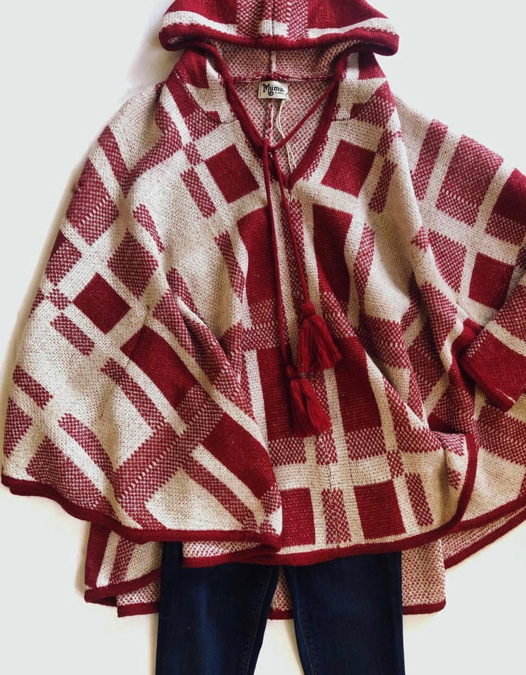 Show Me Your Mumu Plaid Poncho