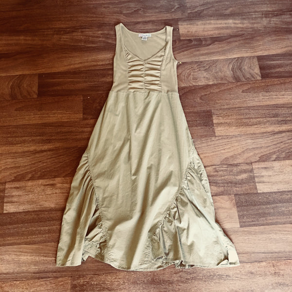 V-Neck Cotton Midi Sundress Size S