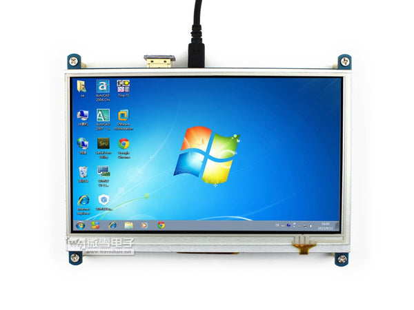 Raspberry Pi 3 B 7inch HDMI LCD 1024 * 600 Resistive Touch Screen LCD Display,HDMI interface, for Raspberry Pi