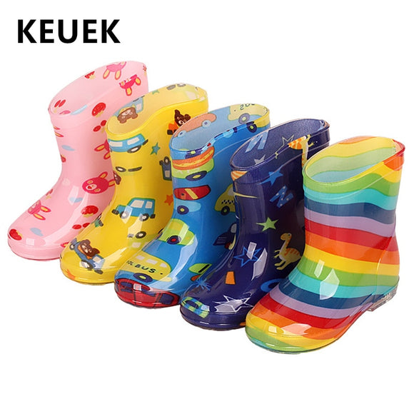 New Children Rain Shoes PVC Baby Rainboots  Anti-Slippery Water boots