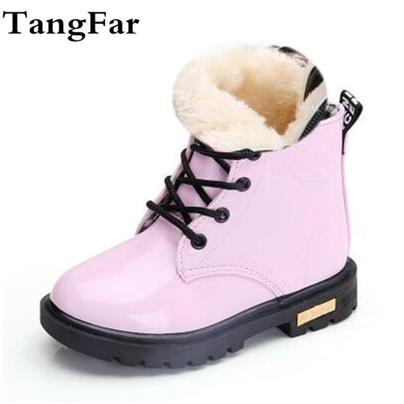#kids_shoes different colors suitable for winter season and snowy days Waterproof plush boots